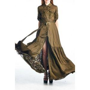Olive Camo Maxi Dress